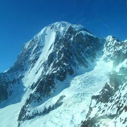 Side Angle of the South Face of University Peak in in the Wrangell St.Elias