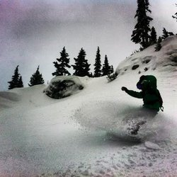 Paddy Mac, soulboardin' on Blackcomb...December 1st, 2013