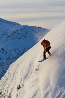 Joey Vosburgh samples the goods at Sol Mountain Lodge.: Photo: Ryan Creary